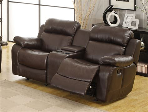 brown leather recliner sofa set 1 868 00 marille 2pc reclining sofa set in dark brown