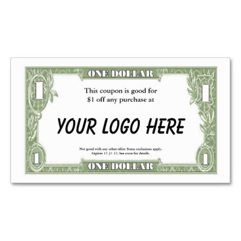 07043 Make Your Own Coupons Free by 1 Coupon Card Business Cards Make Your Own Business Card