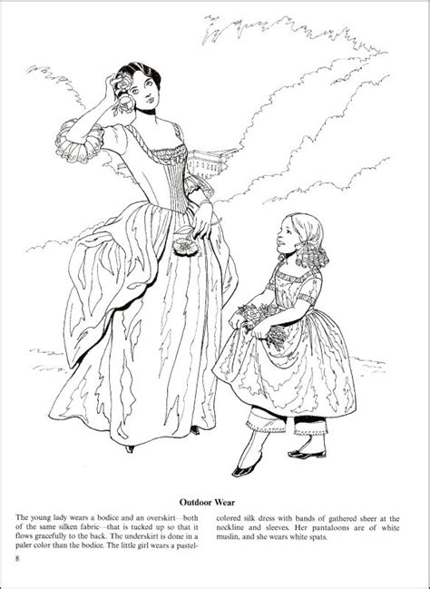 fashions    south coloring book  details