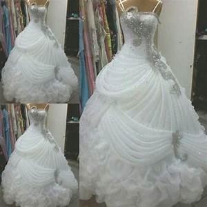 elegant luxury crystal white ball gown wedding dress 2016 With wedding dresses delaware