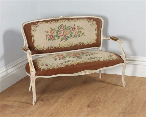 Shabby Chic Settee by Louis Xv Style Painted Gilt Shabby Chic Carved