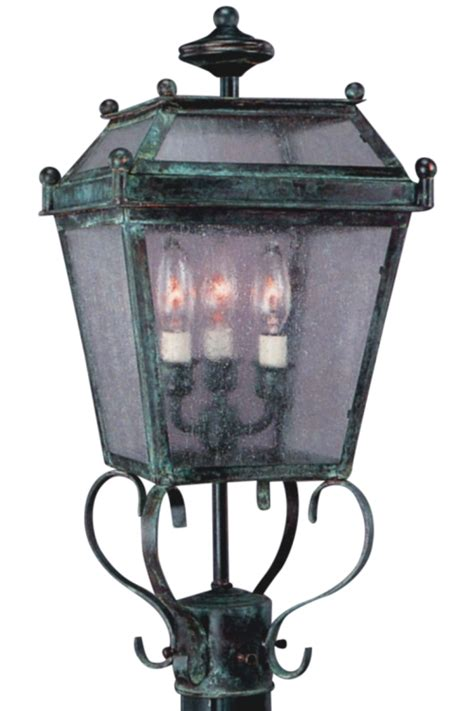beacon post light outdoor electric copper lantern