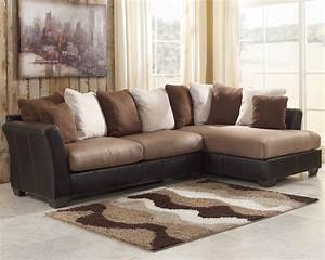 Masoli mocha sectional sofa set signature design by ashley for Ashley sectional sofa