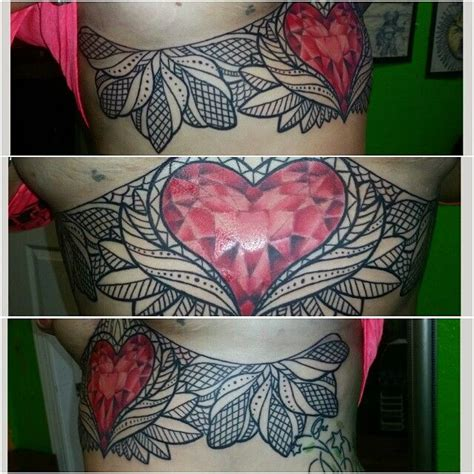 Lace Heart Tattoo Drawing