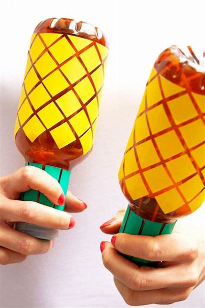 Maracas Diy Pineapple Plastic Bottles Printable Yeswemadethis