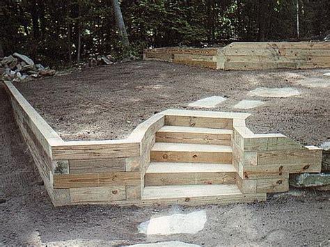 landscape timber retaining wall ideas landscape timber retaining wall pictures landscaping gardening ideas