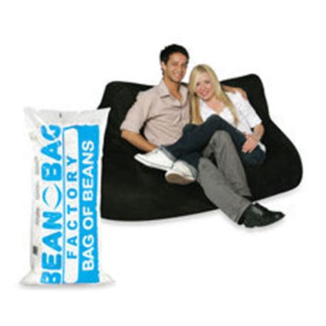 two seater black plush bean bag chair from bed bath beyond