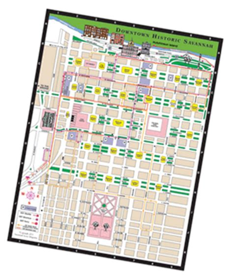 savannah historic district map