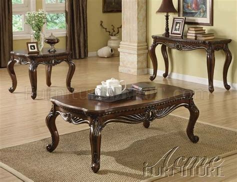 remington coffee table  brown cherry  acme woptions