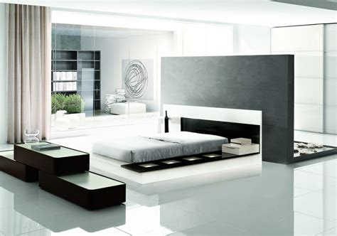 Modrest Impera Contemporary Lacquer Platform Bed Modern