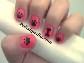 Dog paw nail art polishpedia guide