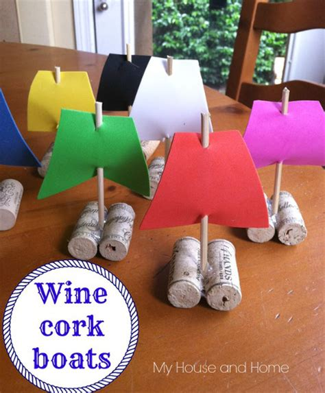 Wine Cork Boat Craft by Wine Cork Boats Think Crafts By Createforless