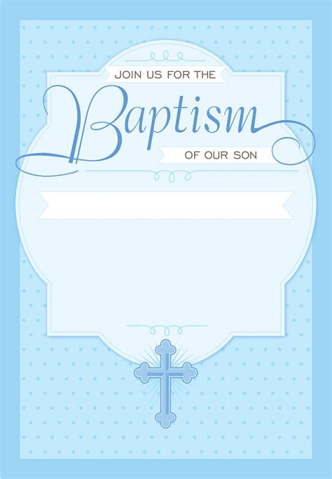 Blank Christening Invitation Templates