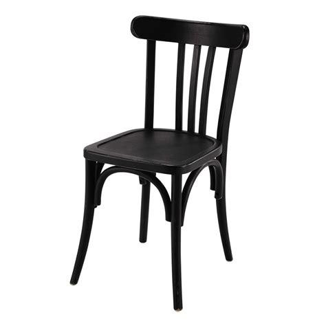 chaise cuisine noir chaise de bistrot en bois troquet maisons du monde