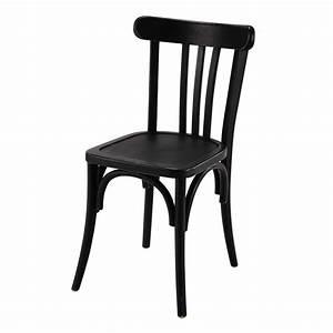 Table Et Chaise Bistrot : chaise de bistrot en bois noire troquet maisons du monde ~ Teatrodelosmanantiales.com Idées de Décoration