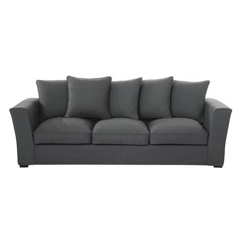 teindre un canapé en tissu non déhoussable canapé 4 places en tissu gris ardoise balthazar maisons