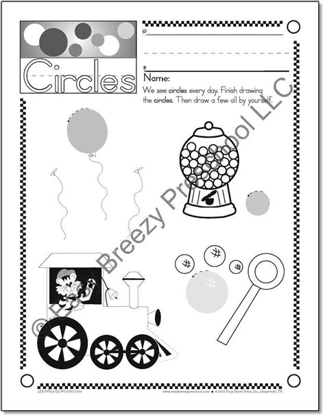 curriculum easy breezy preschool 136 | preschool shape worksheets