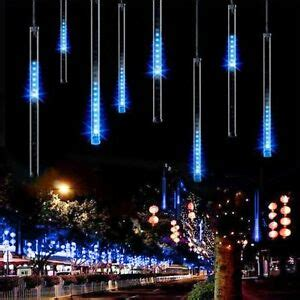 christmas lights that look like snow falling meteor shower falling drop icicle snow led string light tree ebay