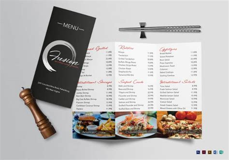 tri fold menu templates   psd eps format