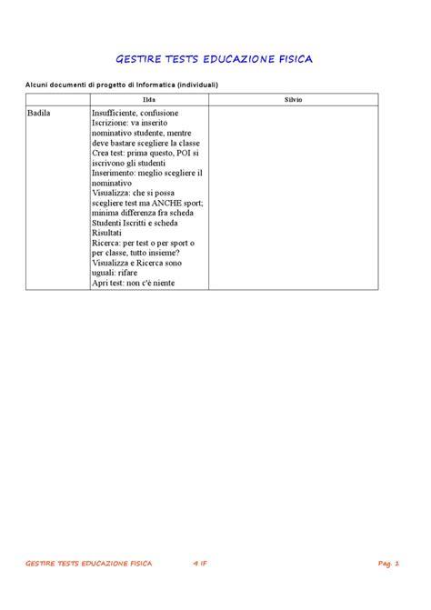 test educazione fisica gestire test educazione fisica valutazione documenti di