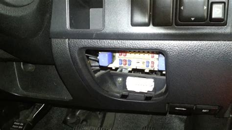 nissan note fuse box location  fuse card youtube