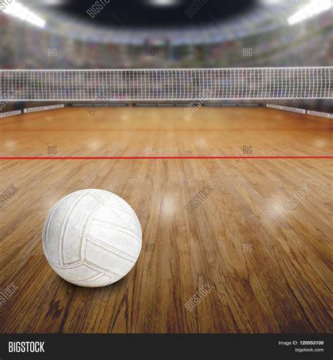 wood ball floor l volleyball court ball on wood floor image photo bigstock