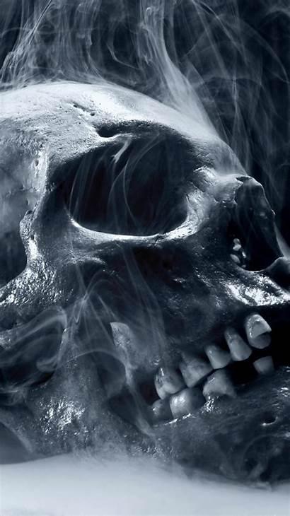 Iphone Halloween Skull Smoke Wallpapers Skeleton Scary