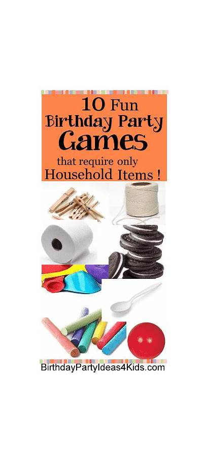 Birthday Games Party Fun Easy Items Household