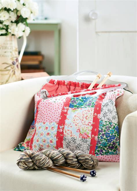 patchwork project knitting bag  sewing patterns