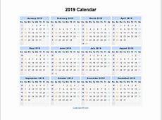 2019 Calendar Printable 2018 calendar printable