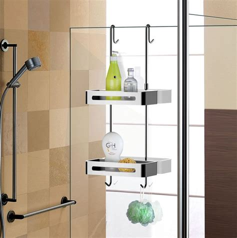 bathroom caddy ideas sanliv over door double shelf hanging shower caddy baskets hotel collection bathroom