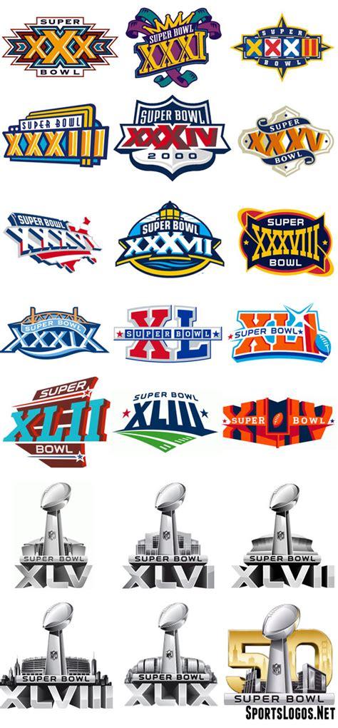 Super Bowl Logos 30 50 Chris Creamers Sportslogosnet