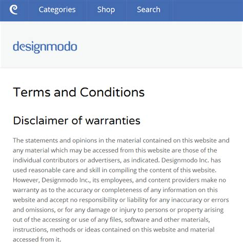 website terms and conditions web design technicalities the importance of pages creative beacon