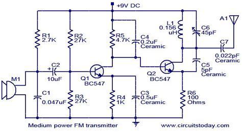 Medium Power Transmitter Circuit Electronic Circuits