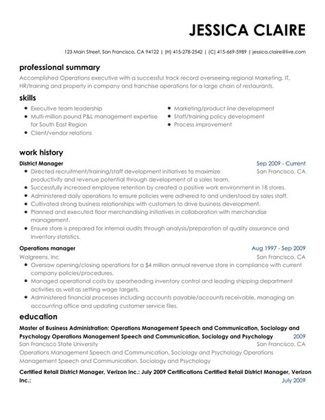 Www Resume Builder by Free Resume Builder Create A Professional Resume
