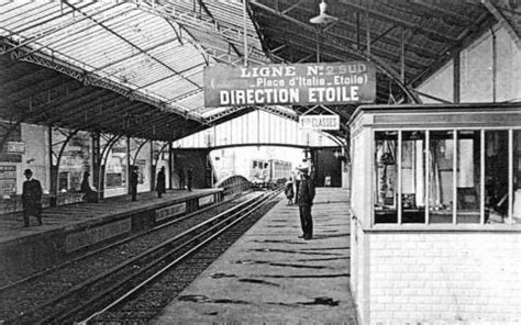 Le métro aérien à Paris en 1900