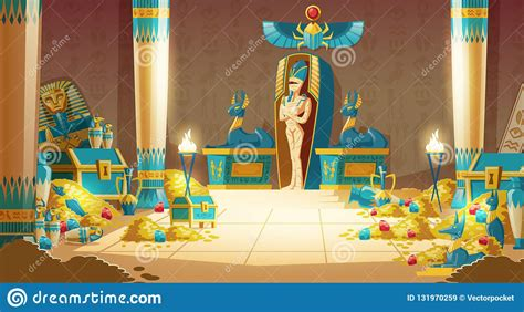 Vector Cartoon Egyptian Tomb