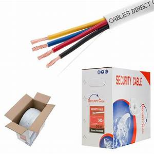 Fire    Security Wire Burglar Alarm 22  4 Awg Cable 1000ft