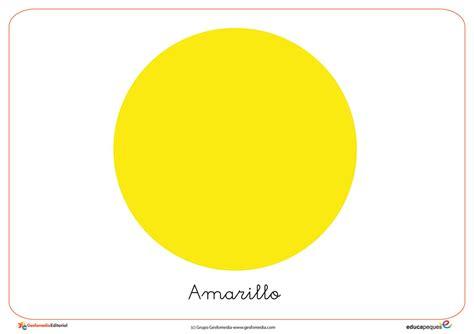 amarillo color recursos para el aula el color amarillo