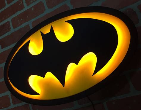 justice league batman batsignal led wall light internet