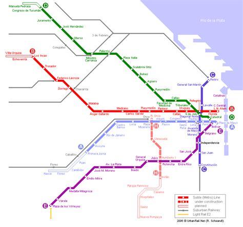 buenos aires carte du métro carte détaillée du