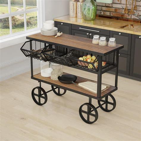 decorative kitchen islands yosemite home decor mango wood kitchen cart with drawers 3124