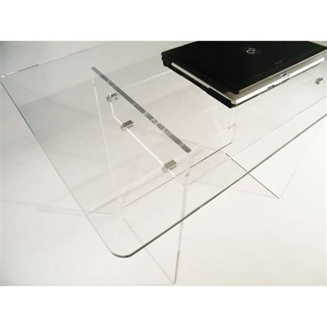 bureau plexiglas bureau en plexiglas et verre piccolo