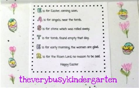 easter recitations for preschool the busy kindergarten easter cards for the elderly 680