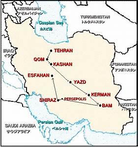 Shiraz, Near Persepolis - Map Locator