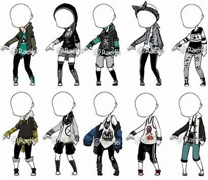 Anime Outfits Male Drawing Chibi Outfit Reference