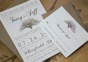 rustic wedding invites rustic magnolia tree wedding invitations with kraft paper envelopes flyoung studio