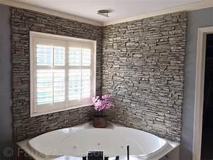 Waterproof Bathroom Wall Panels Design WStone Brick Style