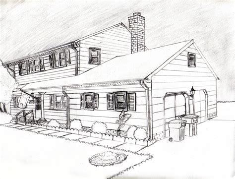 Haus Perspektivisch Zeichnen by 2 Point Perspective House By Pockyshark On Deviantart