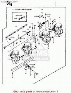 Kawasaki Kz1000p2 Police 1000 1983 Usa Carburetor Assy
